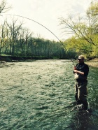 Andy having fun on the Rocky River