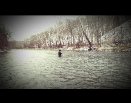 Winter spey on the mighty Cuyahoga