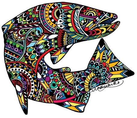 Zentangle Brown Trout
