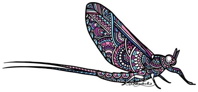 Zentangle Mayfly