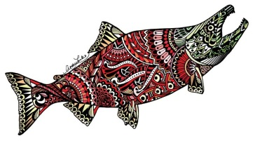 Zentangle Sockeye